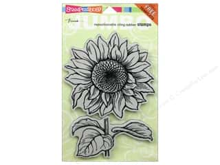 Stampendous Cling Jumbo Sunflower Rubber Stamp
