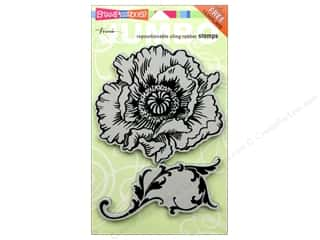 Stampendous Cling Jumbo Poppy Rubber Stamp