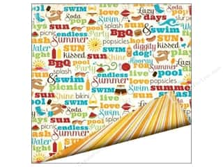 Summer: Imaginisce Paper 12x12 Endless Summer Sun Kissed (25 pieces)