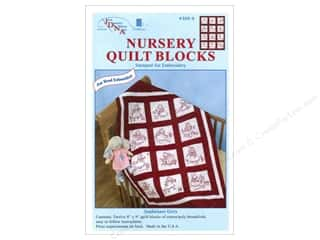 Stamped Goods Stamped Quilt Blocks: Jack Dempsey Nursery Quilt Block 12pc Sunbonnets
