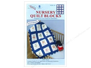 Clearance Blumenthal Favorite Findings: Jack Dempsey Nursery Quilt Block 12pc Little Boys