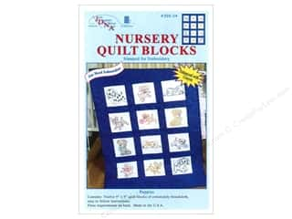 Jack Dempsey Stamped Quilt Blocks: Jack Dempsey Nursery Quilt Block 12pc Puppies