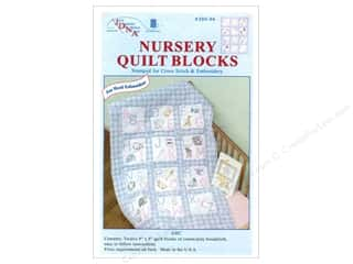"Quilting 12"": Jack Dempsey Nursery Quilt Blocks 12 pc. ABC's"