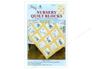 Quilted Fish, The: Jack Dempsey Nursery Quilt Block 12pc Girls & Boys