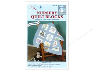Stamped Goods Stamped Quilt Tops: Jack Dempsey Nursery Quilt Block 12pc Zoo Animals