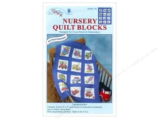 Stamped Goods Stamped Quilt Blocks: Jack Dempsey Nursery Quilt Block 12pc Transportation