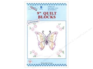 Jack Dempsey 9&quot; Quilt Blocks 12pc Butterfly
