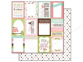 Echo Park Paper 12x12 Bundle of Joy Girl Journaling Cards (25 piece)