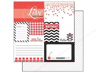 Clearance Blumenthal Favorite Findings: Echo Park 12 x 12 in. Paper Red Journaling (15 piece)