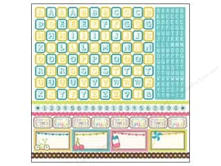 Alphabet Stickers / Number Stickers: Carta Bella Sticker 12 x 12 in. Cool Summer Alphabet (15 set)