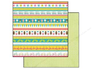 Carta Bella Carta Bella Paper Pad: Carta Bella 12 x 12 in. Paper Cool Summer Ice Cream Borders (25 pieces)