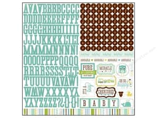 Echo Park Sticker 12&quot;x 12&quot; Bundle of Joy Boy Alphabet (15 set)