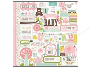 "Echo Park Sticker 12""x 12"" Bundle of Joy Girl Element (15 set)"