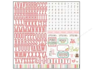 Echo Park Sticker 12 x 12 in. Bundle of Joy Girl Element (15 set)