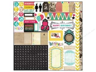 Echo Park Paper Company Alphabet Stickers: Echo Park Sticker 12 x 12 in. Birthday Wishes Element (15 sets)