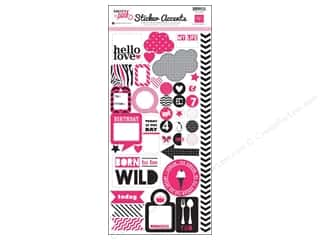Echo Park Sticker 6 x 12 in. Pretty In Pink (15 set)