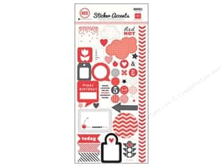 Echo Park Sticker 6 x 12 in. Red (15 set)