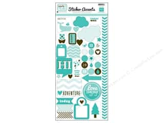 Echo Park Sticker 6 x 12 in. Totally Teal (15 set)