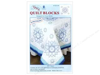 "square hoop: Jack Dempsey Quilt Blocks 18"" 6pc XX Stars"