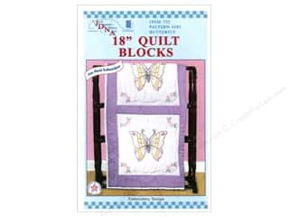 "square hoop: Jack Dempsey Quilt Blocks 18"" 6pc Butterfly"