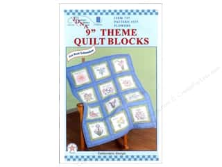 "square hoop: Jack Dempsey 9"" Quilt Blocks 12pc Flowers"