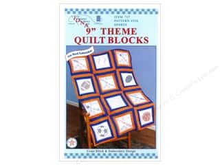 Jack Dempsey 9&quot; Quilt Blocks 12pc Sports