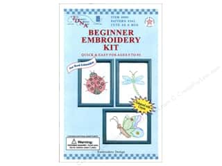 Jack Dempsey Spring: Jack Dempsey Beginner Embroidery Kit Cute as a Bug