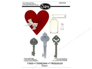 Sizzix Die Thinlits Heart Keys & Tags