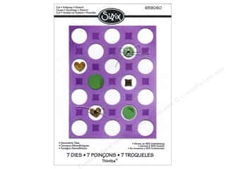 Sizzix Thinlits Die Set 7PK Geometric Tiles
