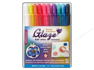 Sakura Sakura Glaze Ink Pen: Sakura Glaze 3-D Glossy Ink Pen Set Bright 10 pc