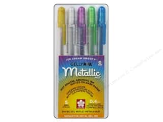 Clearance Art Institute Glitter 1oz Glass Shards: Sakura Gelly Roll Metallic Pen Set Hot 5 pc