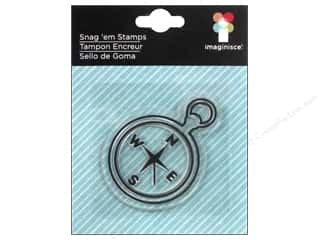 Imaginisce Snag Em Stamp Outdoor Adventure Compass