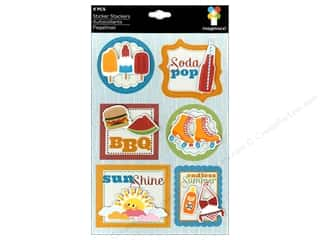 Summer Chipboard Shapes: Imaginisce Stickers Endless Summer Stacker BBQ