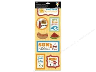 theme stickers  summer: Imaginisce Stickers Endless Summer Chipboard Live Love Swim
