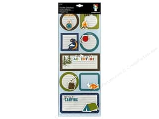 Summer Chipboard Shapes: Imaginisce Stickers Outdoor Adventure Stacker Outdoor Journal