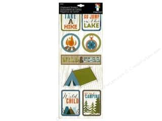 Summer Chipboard Shapes: Imaginisce Stickers Outdoor Adventure Chipboard Take a Hike