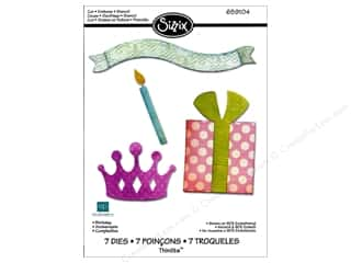 Echo Park Paper Company Decorative Brads: Sizzix Thinlits Die Set 7PK Birthday by Echo Park Paper