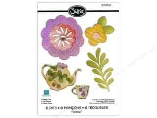 Metal Brown: Sizzix Thinlits Die Set 6PK Sweet Girl by Echo Park Paper