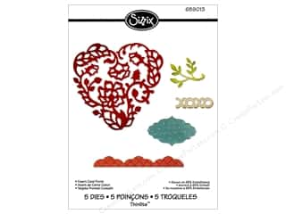 Sizzix Thinlits Die Set 5PK Heart Card Front