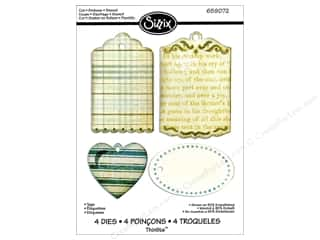 Sizzix Thinlits Die Set 4pk Tags