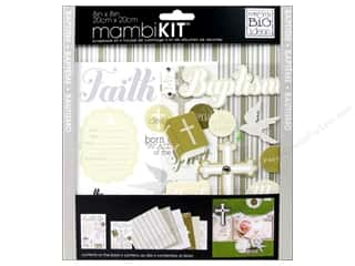 "Scrapbooking Sale Me & My Big Ideas Kits: MAMBI Kit Scrapbook 8""x 8"" Neutral Baptism"