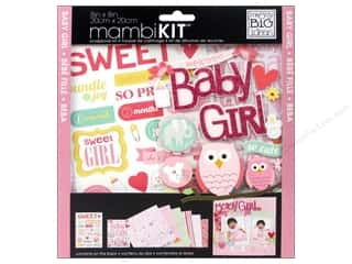 MAMBI Kit Scrapbook 8&quot;x 8&quot; Baby Girl Animals