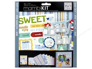 "Me&My Big Ideas Kit Scrapbook 8""x 8"" Baby Boy Animals"