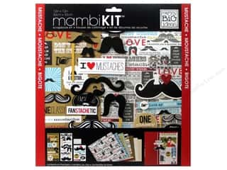 "Crafting Kits MAMBI Kit Scrapbook: Me&My Big Ideas Kit Scrapbook 12""x 12"" Mustache"
