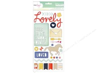 clearance American Crafts Thickers Stickers: Thickers Stickers Dear Lizzy Lucky Charm Trinkets & Phrases Multi