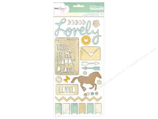 clearance American Crafts Thickers Stickers: Thickers Stickers Dear Lizzy Lucky Charm Trinkets & Phrases Neutral