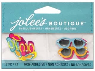 EK Jolee's Boutique Embellishment Flipflops And Sunglasses