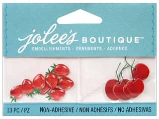Wire Burgundy: Jolee's Boutique Embellishments Strawberries and Cherries