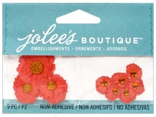 Autumn Leaves $8 - $9: Jolee's Boutique Embellishments Poppies Orange