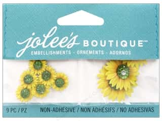 EK Jolee's Boutique Embellishmenst Mini Sunflowers